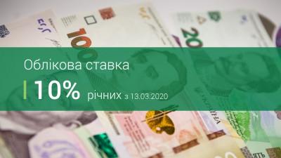 Національний банк знизив облікову ставку